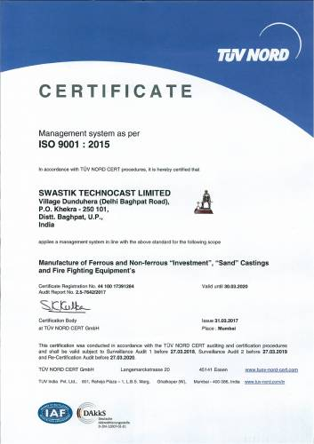 ISO 9001 - 2008 Certificate